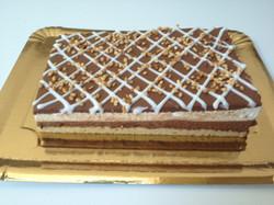 Tarta de pannacota de chocolate .