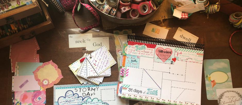 Favorite supplies for Bible Quilt journaling