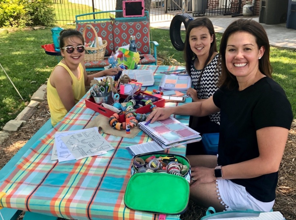 Bible Quilting friends at the Turquoise Table