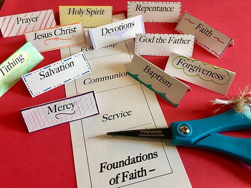 Foundations of Faith tab sheet