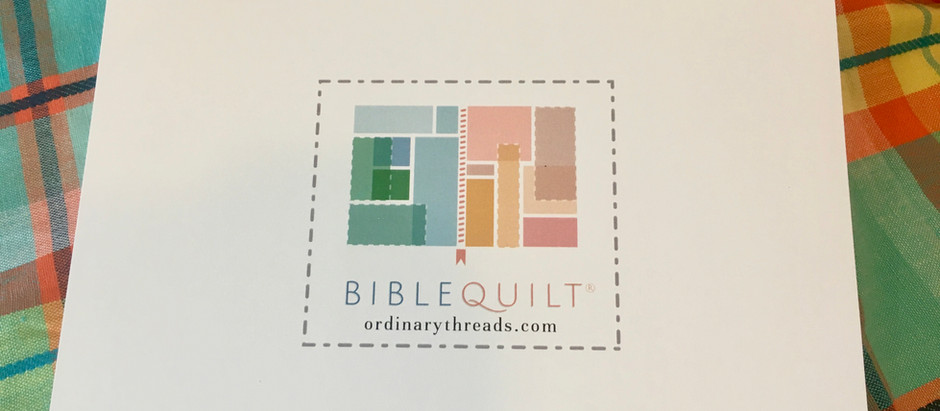 How to start a Bible Quilt journal