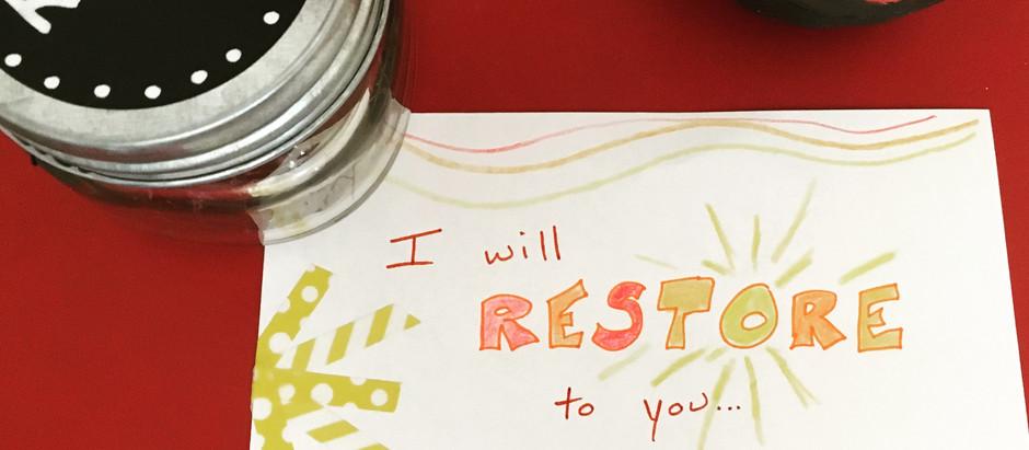 Chasing Quiet: Day 7 - Restore