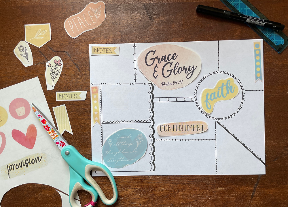 Sample layout for #biblequiltjournal page