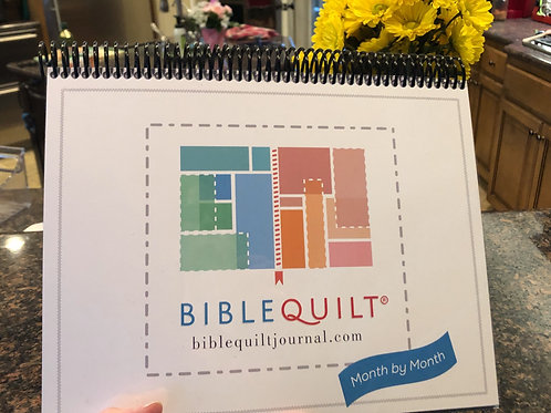 """Month-by-Month Bible Quilt Journal (8.5 x 11"""")"""
