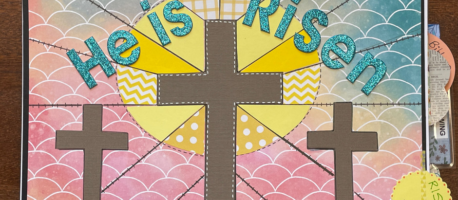 Recap of our Spring Bible Quilt® Craft Night: Crosses on Stained Glass Page