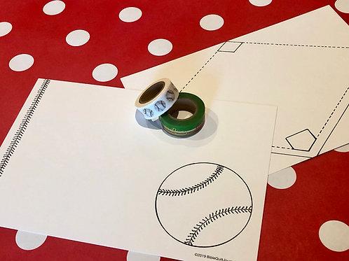 Baseball template set