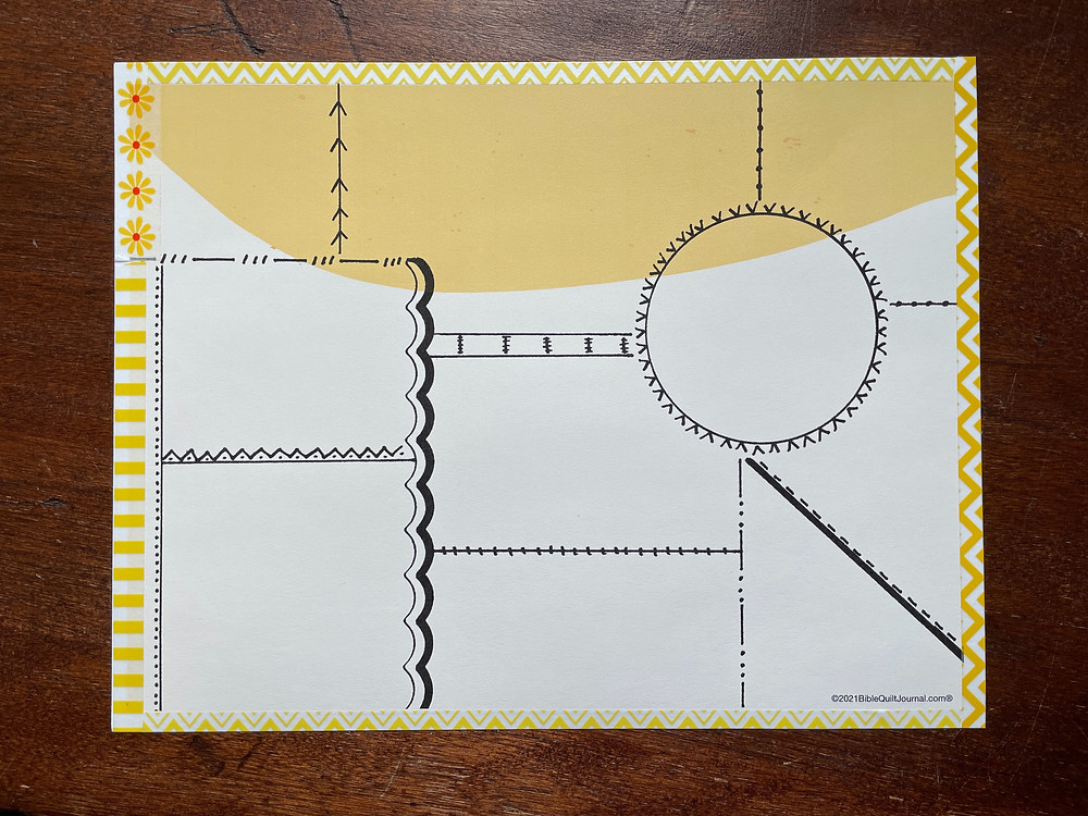 Block with Circle template for #biblequiltjournal
