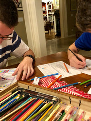 Brothers coloring ABC tabs for Bible Quilt journal