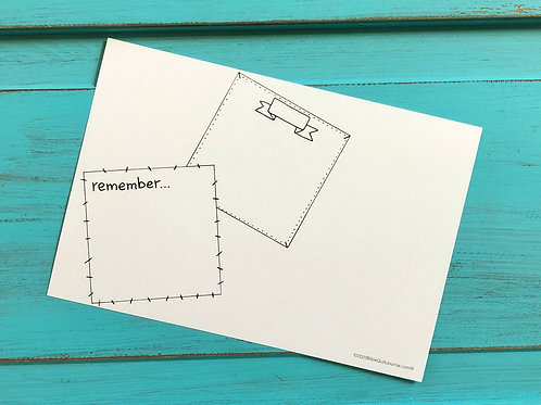 Post-it to Remember (horizontal)