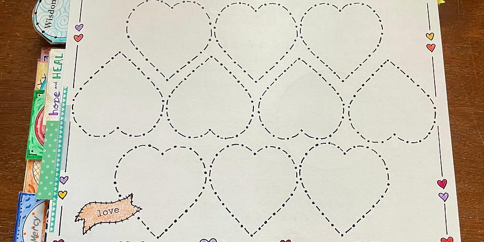 BQ Craft Night: Decorating the Heart Chain Template