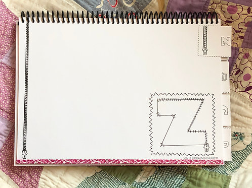 Z page in ABC Bible Quilt Journal