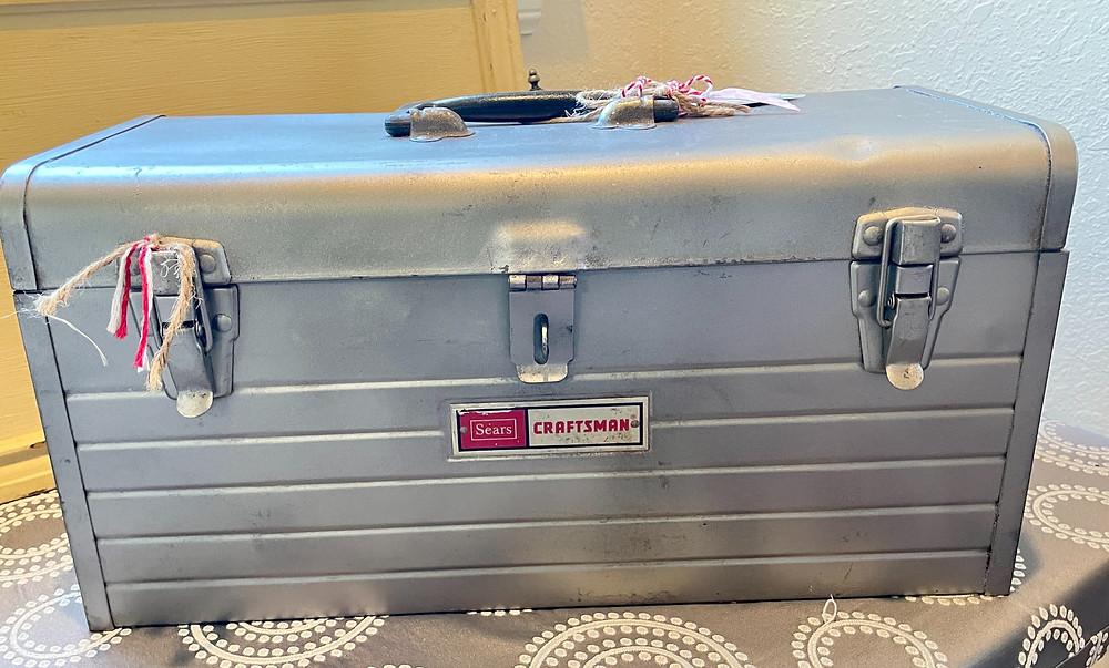 vintage toolbox, repurposed