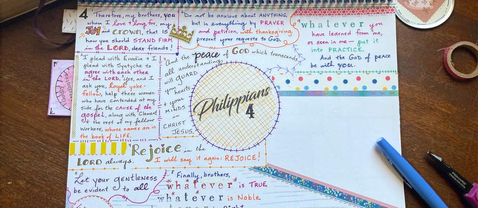 How to Bible Quilt a Long Scripture Passage: Philippians Chapter 4