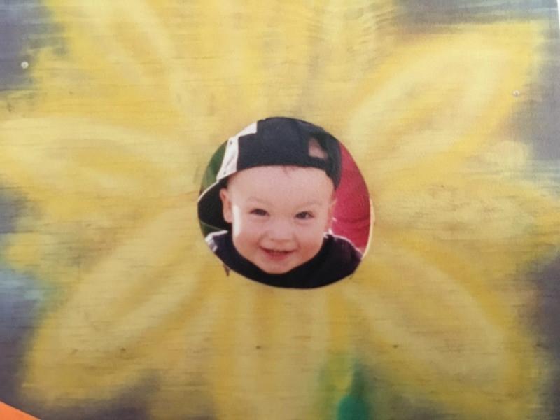 Boy in Sunflower cutout