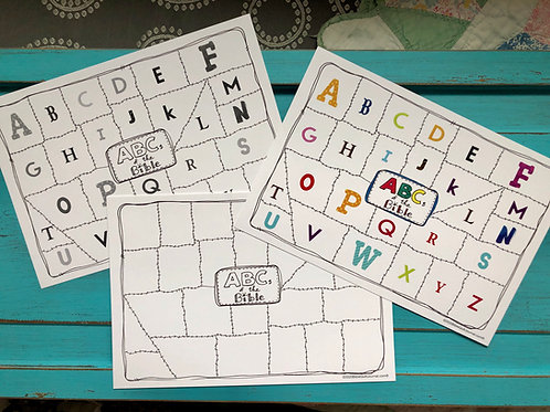 ABCs of the BIBLE patchwork (trio)