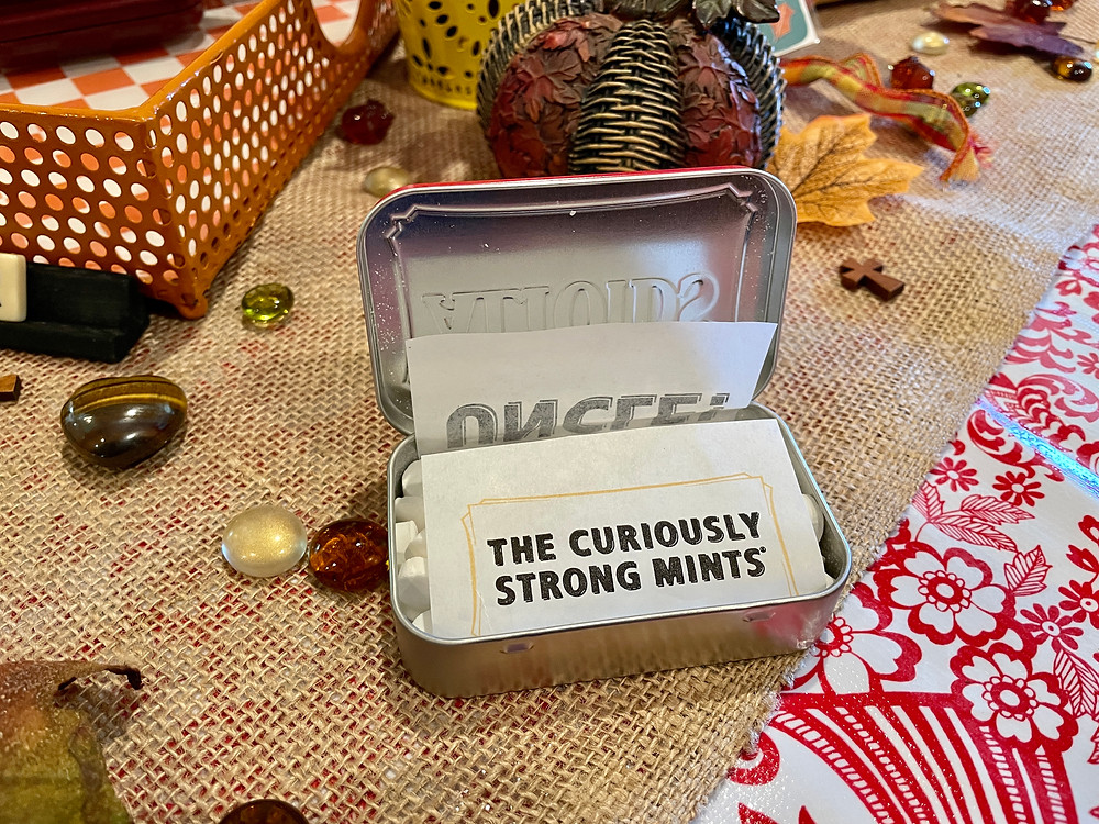 """altoids tin """"the curiously strong mints"""""""