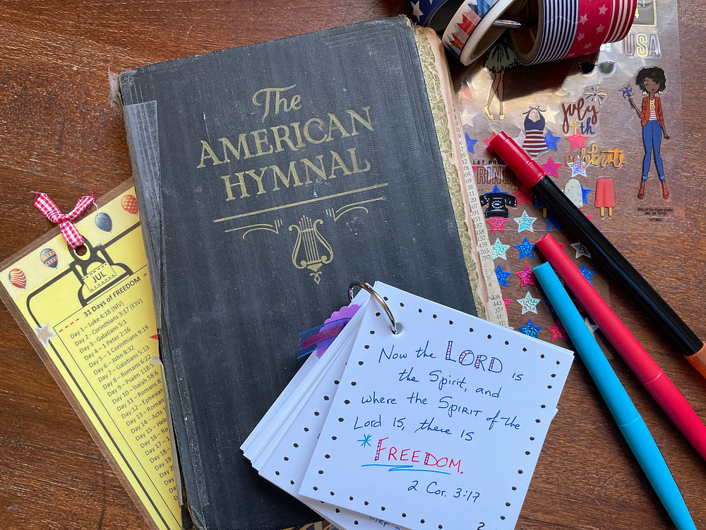 Hymnal and Bible Quilt flip cards