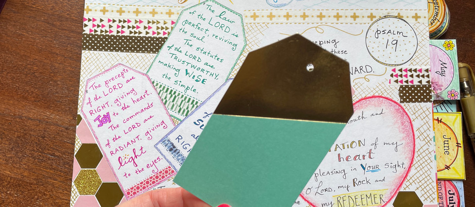 How to use Gift Tags in your Bible Quilt Journal