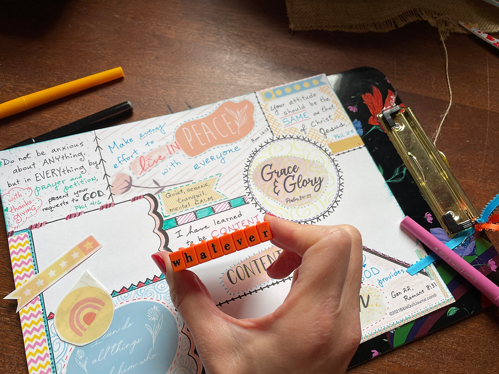 Click-together stamps for Bible Quilting