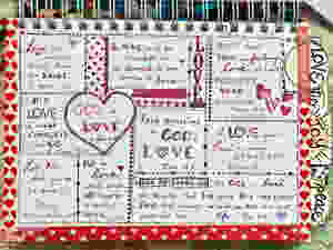 LOVE page in my Bible Quilt journal