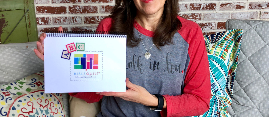 ABC Bible Quilt Journal: It's here!