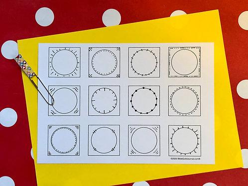 Blank circle tabs