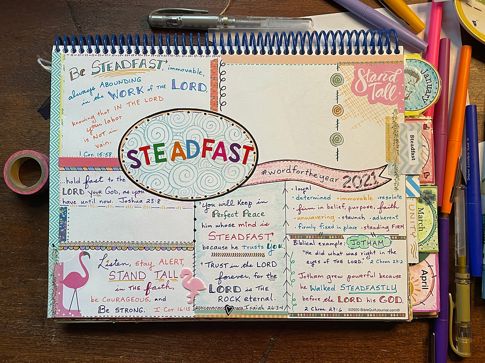 Word for the Year template - Steadfast