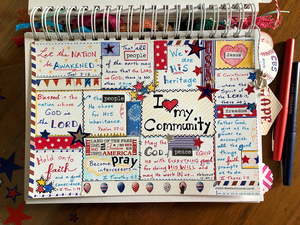 Community Prayer Page in Bible Quilt Journal