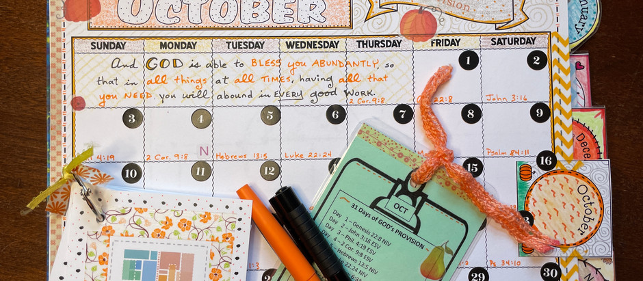 31 Days of Provision - Oct 2021
