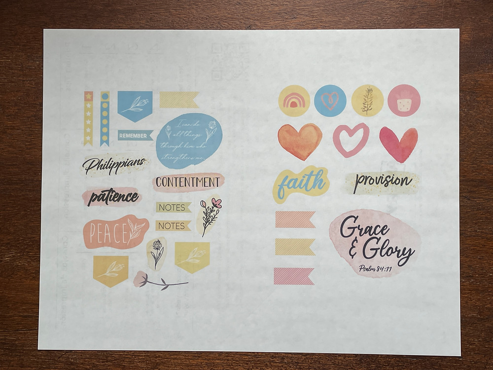 Print out your own stickers