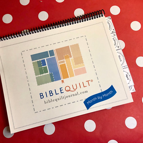Printable Month-to-Month Bible Quilt Journal (8 1/2 x 11)