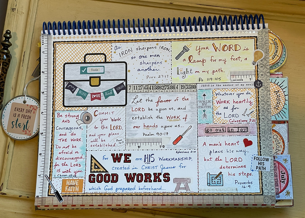 Good Works #biblequiltjournal page on Toolbox template