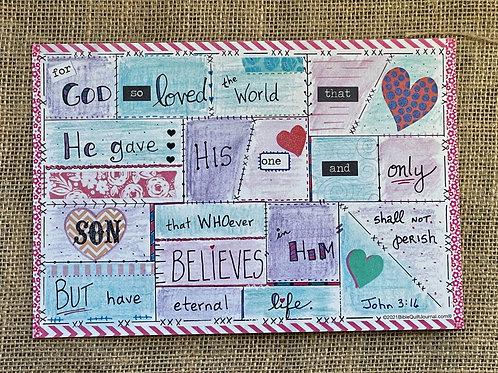 John 3:16 template (in color)
