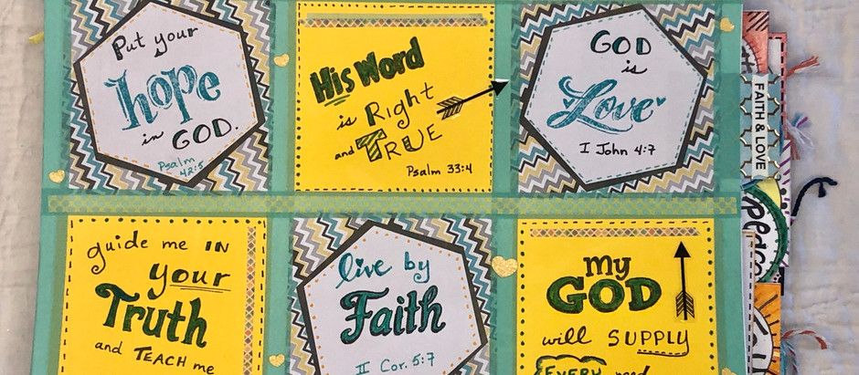 How to create post-it pages in your Bible Quilt Journal