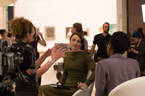 Director Mairi Cameron with Rachael Blake and Mirene Igwabi - Kate Os.jpg