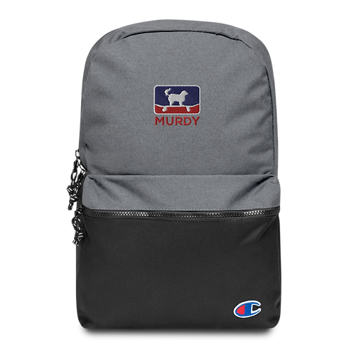 Murdy Blue & Red Embroidered Champion Backpack