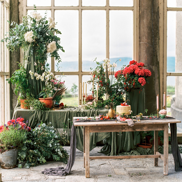 Opulent floral display by Jill Wild, Flowersmith
