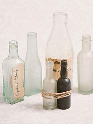 Antique bottles (clear)