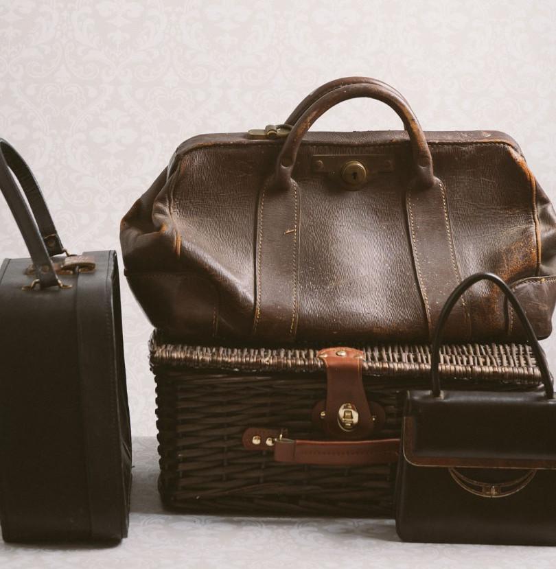 Vintage bags & basket