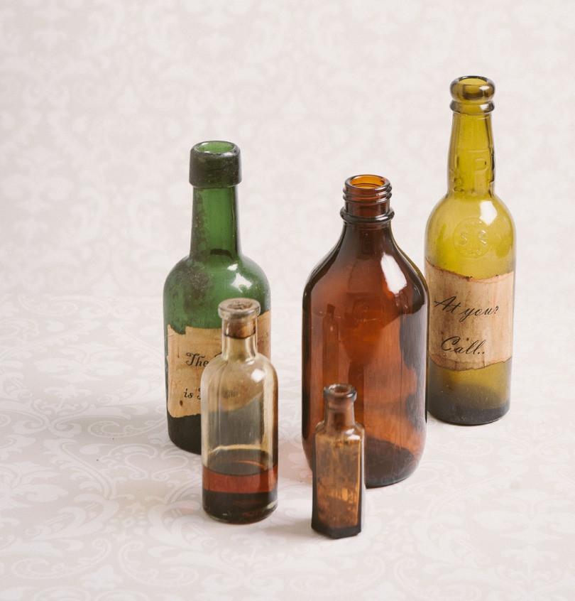 Antique bottles (coloured)