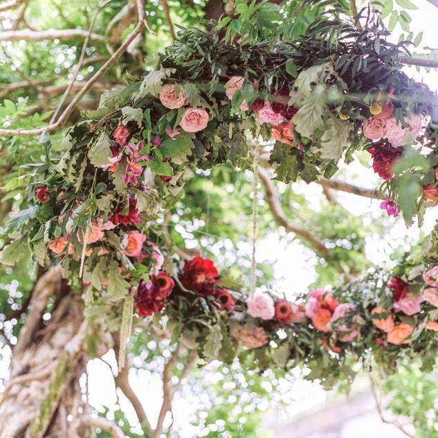 Floral Chandelier by Jill Wild, Flowersmith