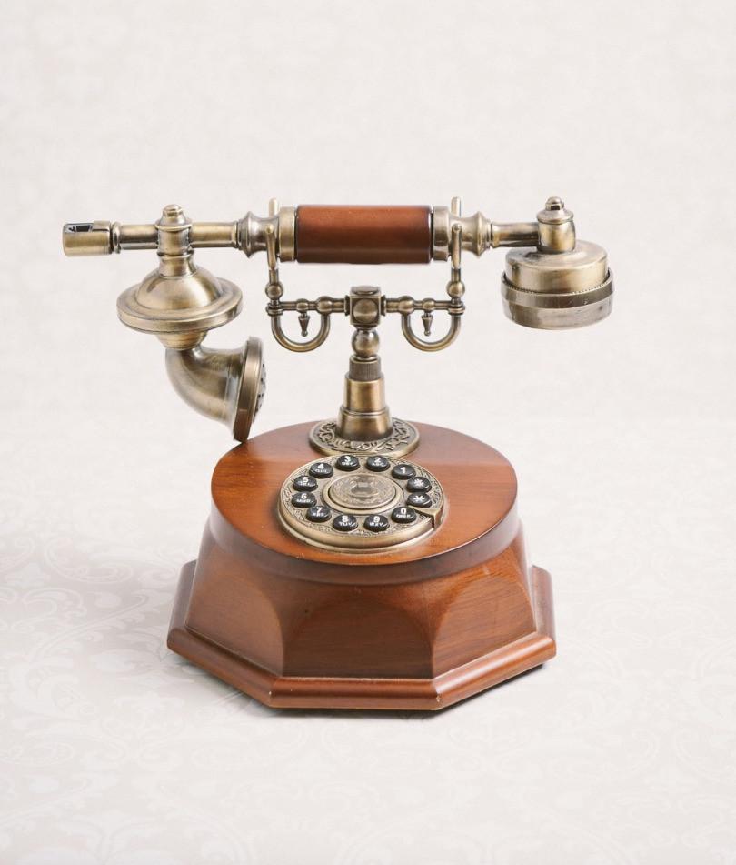 Antique telephone (wooden)