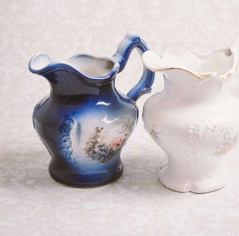 Decorative ceramic jugs