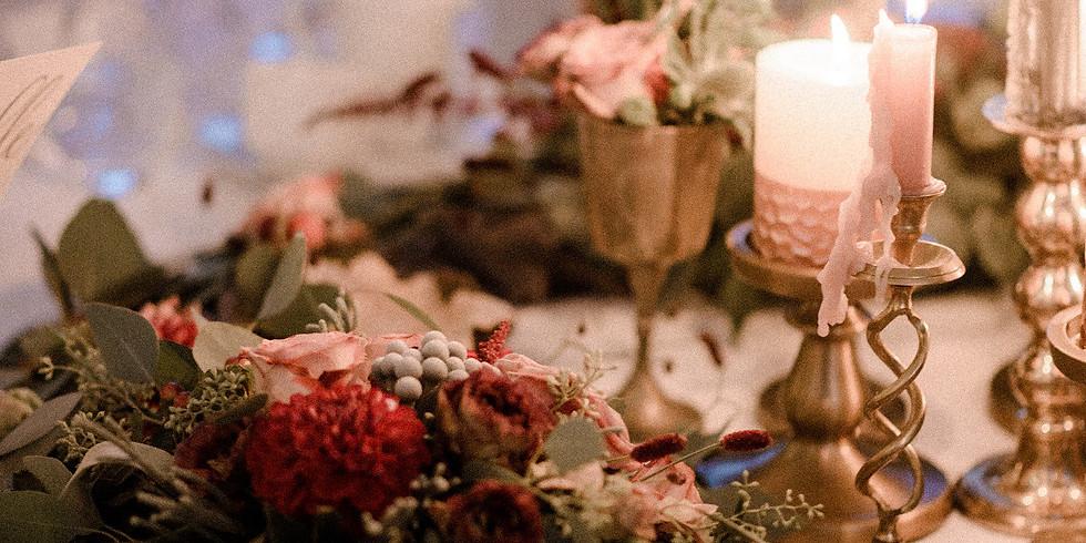 Hanako & Wild Winter Candle Centrepiece Workshop 2