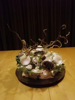 Kersttaart zonder snijbloemen