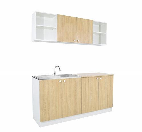 White & Sonoma Oak Kitchen
