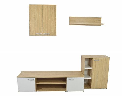 Living Room Set – Sonoma Oak & White