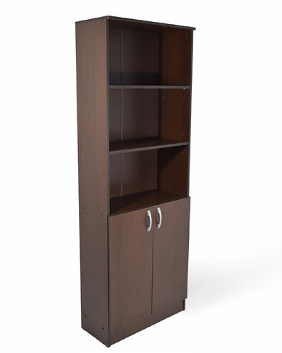 Bookcase – 3 Shelves, 2 Doors