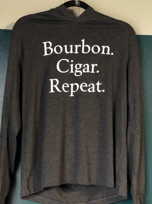 Bourbon Cigar Repeat Long Sleeve T-Shirt