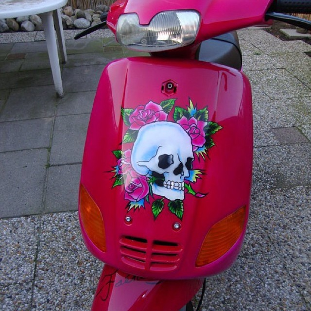 "Custom Paint scooter "" Ed Hardy"""